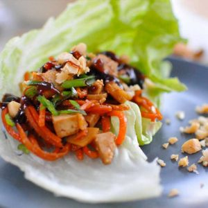 Grilled Tofu Lettuce Wrap