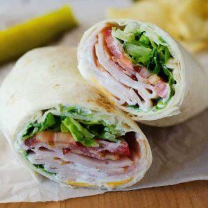Turkey Bacon Cheddar Wrap