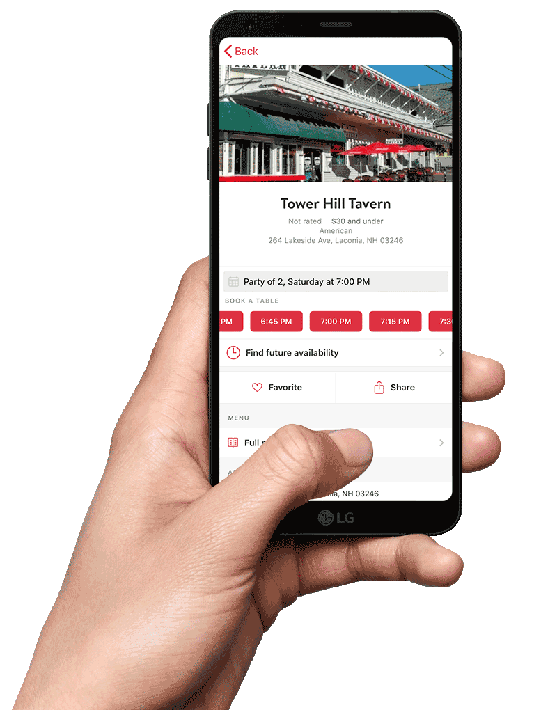 OpenTable Reservation App