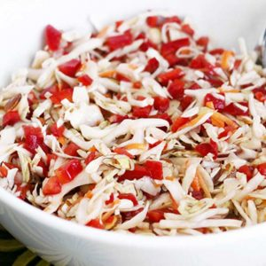 Sweet Red Pepper Cole Slaw
